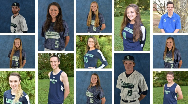 Thirteen students pose who received NJCAA All-Academic Honors.
