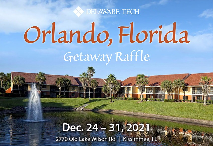 Condo Building wide shot - Orlando, Florida Getaway Raffle. Dec. 24 - 31, 2021, 2770 Old Lake Wilson Rd. Kissimmee, FL.