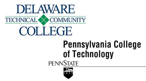 Delaware Tech and Penn College logos