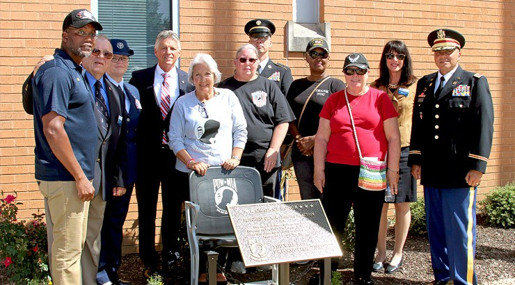 Stanton Group Shot: The POW/MIA Chair of Honor at the Stanton Campus.