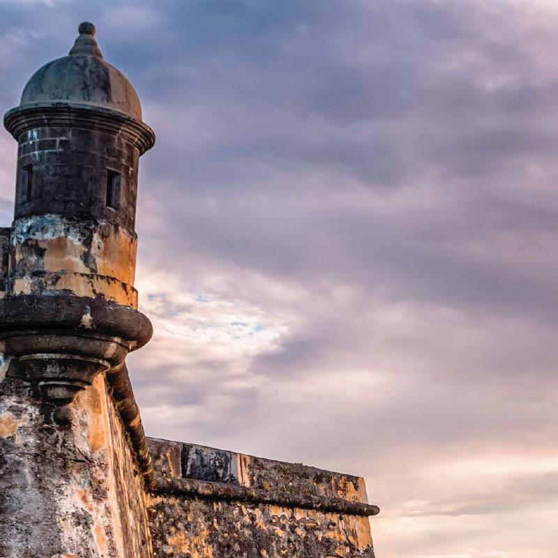 Puerto Rico coastal tower.
