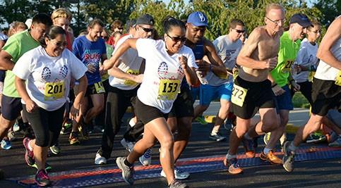 Participants begin the race