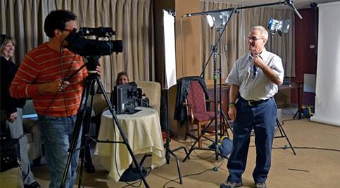 Lloyd Saba being interviewed