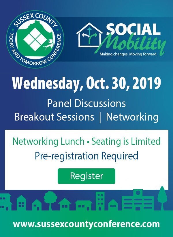 Link to Sussex County Today and Tomorrow Conference - Wednesday, October 30, 2019.