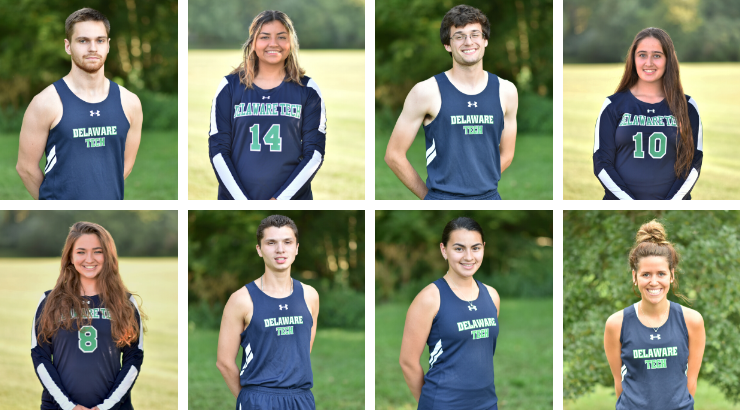 A collage of all the September and October Athlete Spotlights