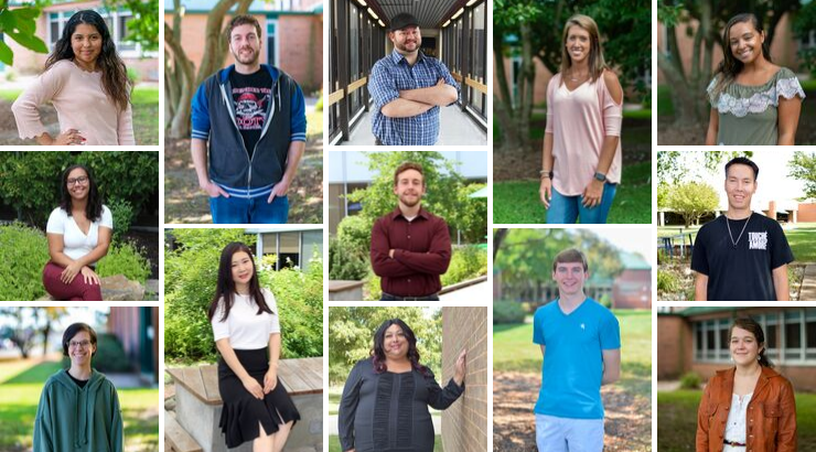 A collage of all the September Student Spotlights