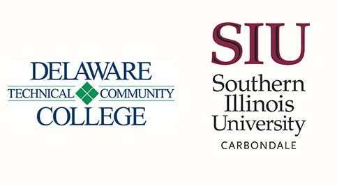 Delaware Tech and Southern Illinois University Carbondale logos