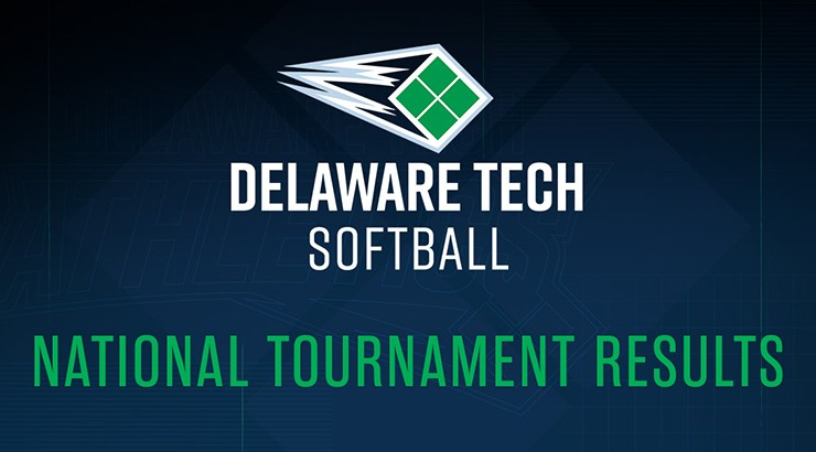 The Delaware Tech Softball logo and the words National Tournament Results