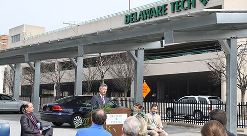 Executive Vice President Mark Brainard talks about Delaware Tech's solar energy commitment.