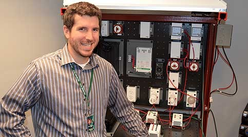 Cory Budischak, instructor in the Energy Management Department