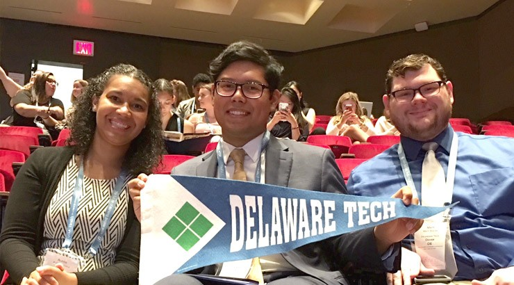 Pictured: From left, nursing students Alexis Harvey, Joel Pascual and Matthew States at the National Student Nurses' Association Summer Leadership Conference in New York.