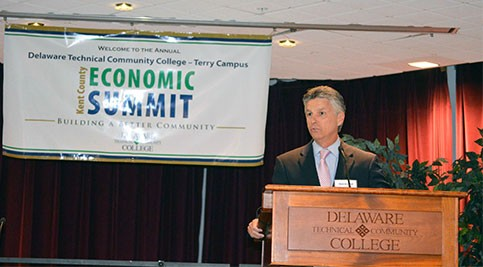 Dr. Mark Brainard speaking at Economic Summit