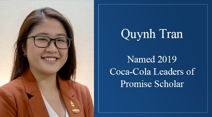 Quynh Tran headshot - Named 2019 Coca-Cola Leaders of Promise Scholar