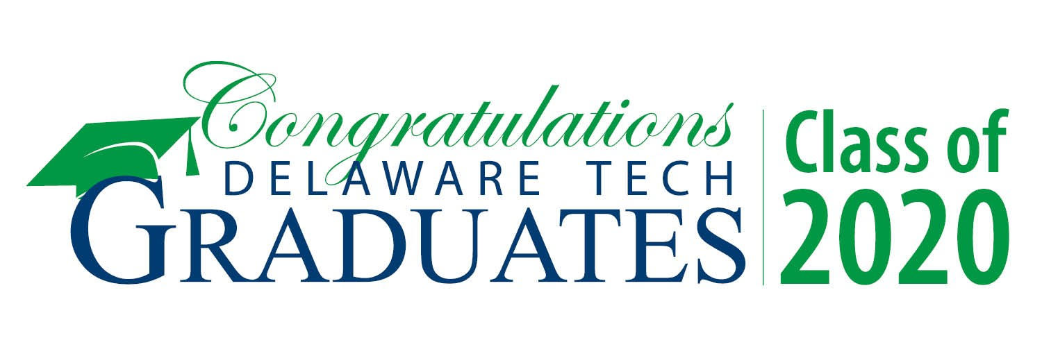 Graphic for Twitter with text that says Congratulations Delaware Tech Graduates Class of 2020