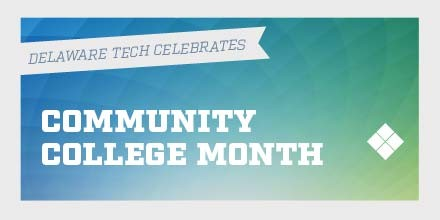 Twitter graphic for Delaware Tech Community College month
