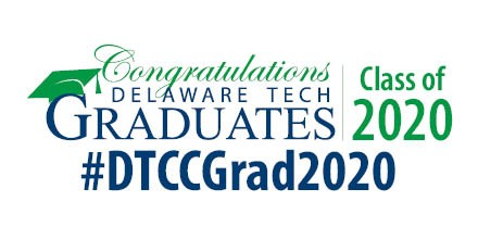 Twitter in-stream graphic with text that says Congratulations Delaware Tech Graduates Class of 2020