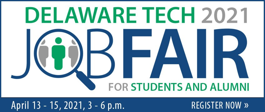 Link to Virtual Job Fair Registration for Students and Alumni: April 13 - 15, 2021,  3 - 6 p.m.