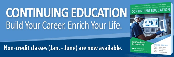 Link to Continuing Education - Build Your Career. Enrich Your Life. Non-credit classes (Jan. June)