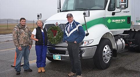 Chris Antonik with Delaware Tech truck