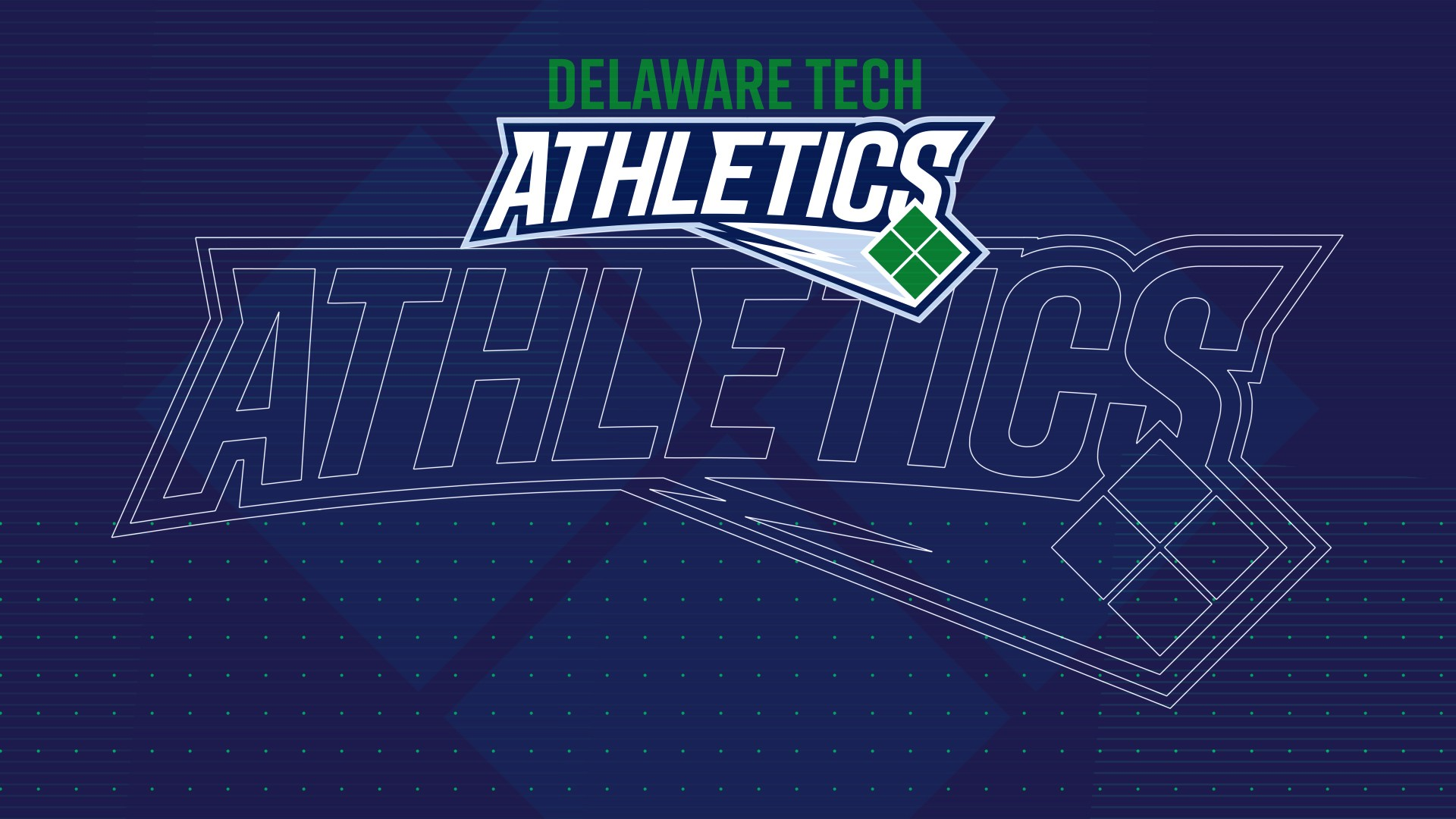 Delaware Tech Athletics Zoom Background Image Logo.