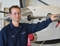 Aviation Maintenance Technology student