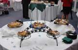 Catered food set on table display
