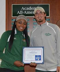 Delaware Technical Community College Terry Campus Athletic Director Anthony Edwards and Kadijah Doughty